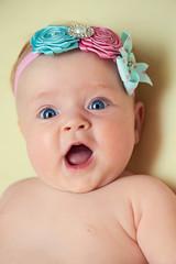 Adorable little girl with big grey eyes