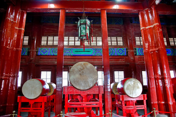 Ancient Chinese Drums Drum Tower Beijing, China