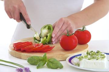 Salade Italienne - Préparation