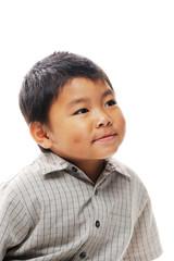 Asian boy dimples