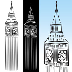 Big Ben Clock Tower Drawing