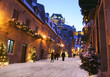 Quebec City, Chateau Frontenac at dusk, Canada