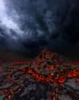 Leinwanddruck Bild - Volcano