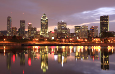 Montreal skyline at night, Canada