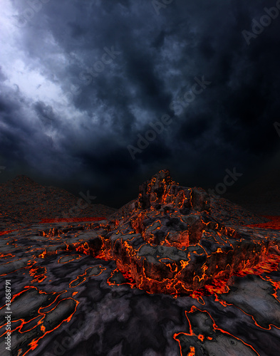 Leinwanddruck Bild Volcano