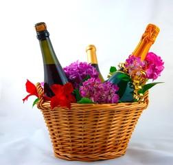 Wein Geschenk Korb