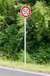 Schild - Tempolimit 50 km/h