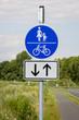 Schild - Fußgänger und Radfahrer gemeinsam