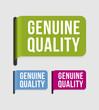 Modern  label – genuine quality