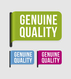 Modern  label – genuine quality poster