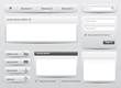 Light gray skin web elements