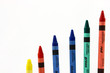 Assorted Crayons In Increasing Height