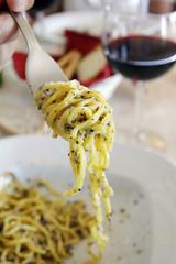 Italian tagliolini with truffe