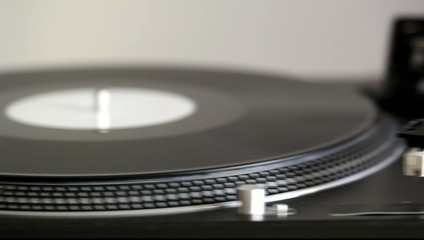Dj turntable, slide video