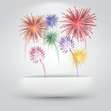 Fototapety Fireworks Coming Out of Paper Slit