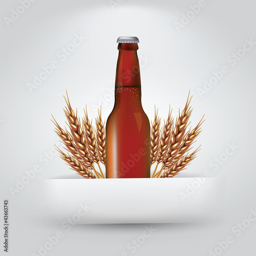 Bottle and Wheat in Slit