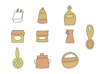 Grafik-Set: Küche - Haushaltsgegenstände