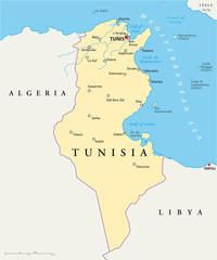 Tunisia Map (Tunesien Landkarte)