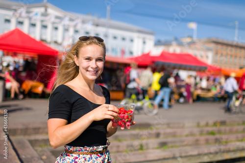Girl on market