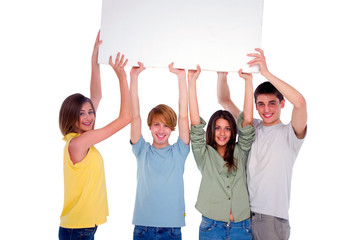 teenagers with white panel