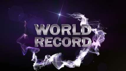 WORLD RECORD Text in Particle (Double Version) - HD1080