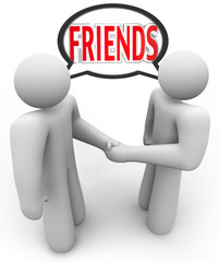 Friends Two People Shaking Hands Friendly Meeting