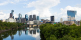 Panoramic skyline view of Philadelphia, Pennsylvania .