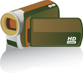 brown colored hd camcorder - illustration