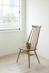 椅子と観葉植物