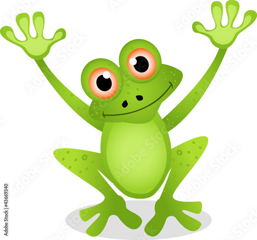 Standing Cartoon Frog