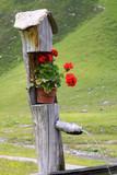 Gartendeko auf einer Bergalm in Südtirol