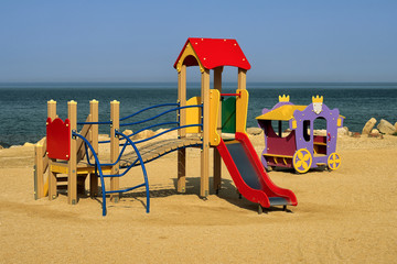 Colourful childs slide playground