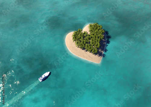 Heart Shaped Paradise Island