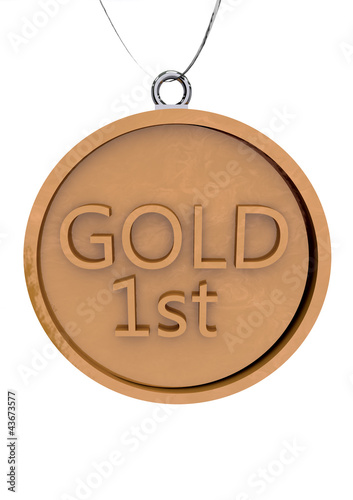 Gold Medal First Place Number One