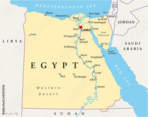 Egypt Map (Ägypten Landkarte)