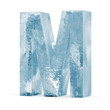 Icy Letters isolated on white background (Letter M)