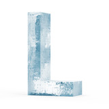 Icy Letters isolated on white background (Letter L)