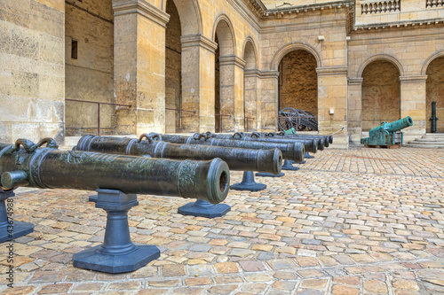 Ancient cannons. Museum at Les Invalides in Paris.