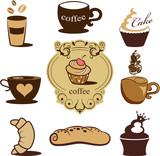 Fototapety Bakery icons