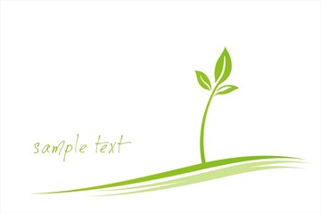 leaves , plant , Green Eco friendly business logo design