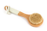 bath brush isolated on white