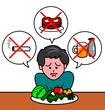 厳しい食事制限