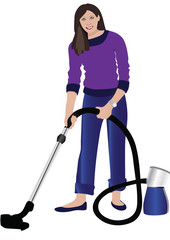 Women with hoover