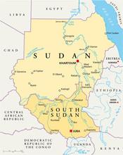 Kaart van Soedan (Sudan Landkarte)