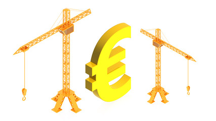 cranes with euro