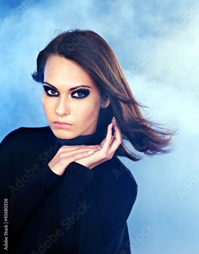 Fashion studio shot of woman.