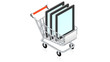 Shopping cart with tablet PC