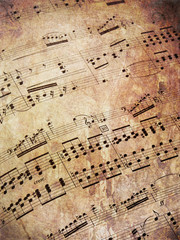 Musical scores grungy
