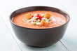 Delicious bowl of gazpacho