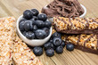Muesli Bars with Blueberries and Chocolate